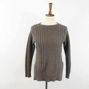 GAP Wool Blend Cable Knit Fishermen Sweater XS